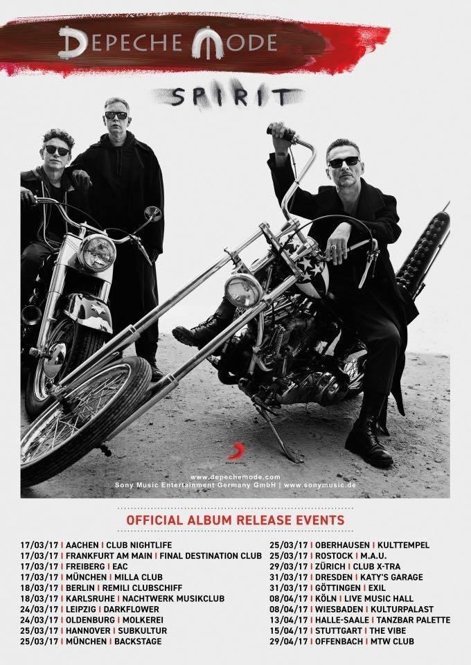 Depeche mode spirit album tour hypno5ive - Depeche mode in your room live 2017 ...