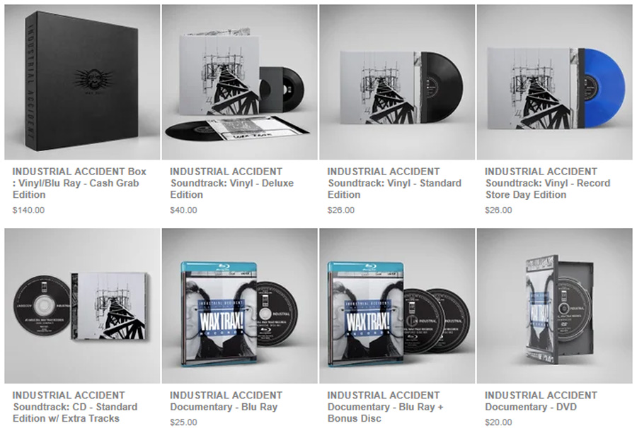 Wax Trax! Records Industrial Accident Blu Ray and Soundtrack