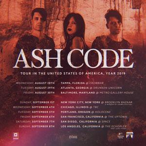 Ash Code 2019 US Tour