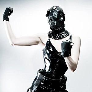 """Dog Soldier"" outfit. Torture garden 2010. Collar and corset Renee Masoomian. Photo Armando de'Ath."